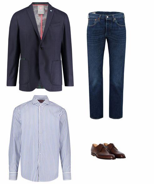 Businesskleidung gestreiftes Hemd