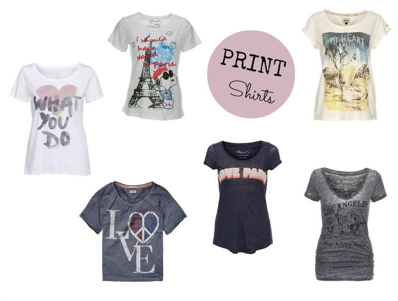 Bedruckte Shirts für den Sommer