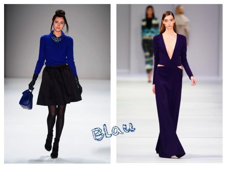 Blau Trendfarbe Fashion Week Berlin (Bilder: Mercedes-Benz Fashion)