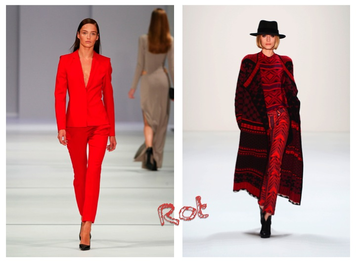 Trendfarbe Rot Fashion Week Berlin (Bilder: Mercedes-Benz Fashion)