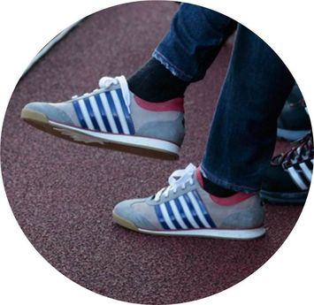 Pep Guardiolas Dsquared Sneaker Pep Guardiola und seine Dsquared Sneaker (Bild: Getty Images (Johannes Simon/Bongarts))