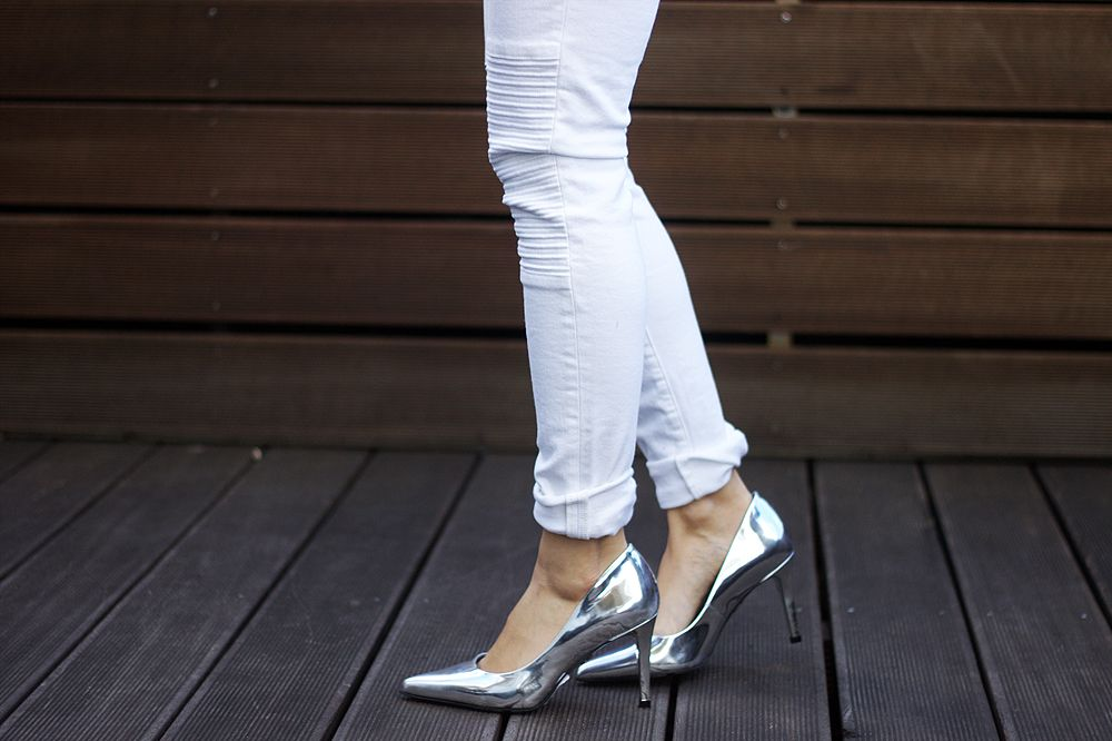 Schumacher Graphic Pumps in Silber