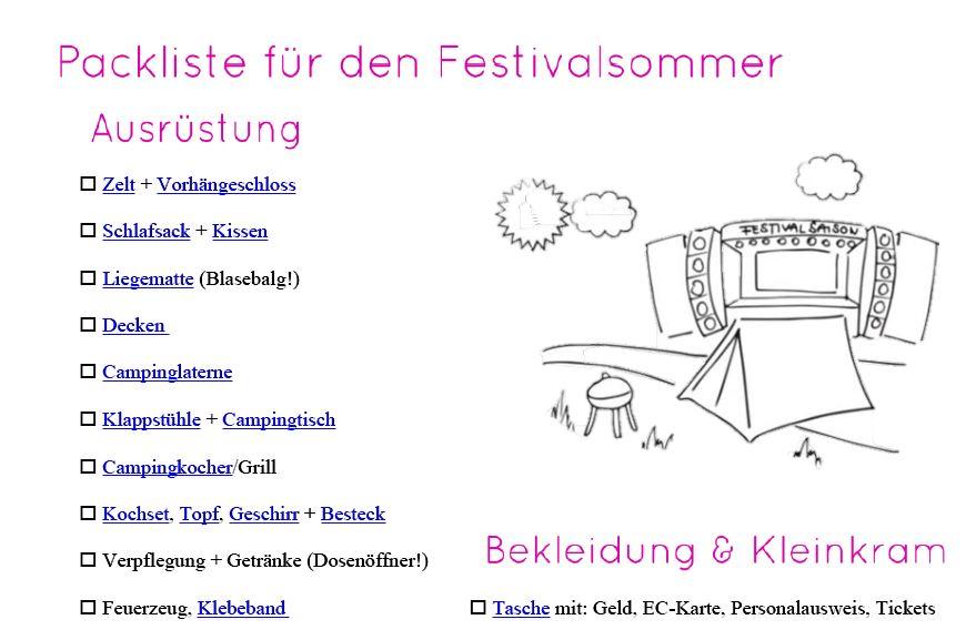 Die beste Festival-Packliste