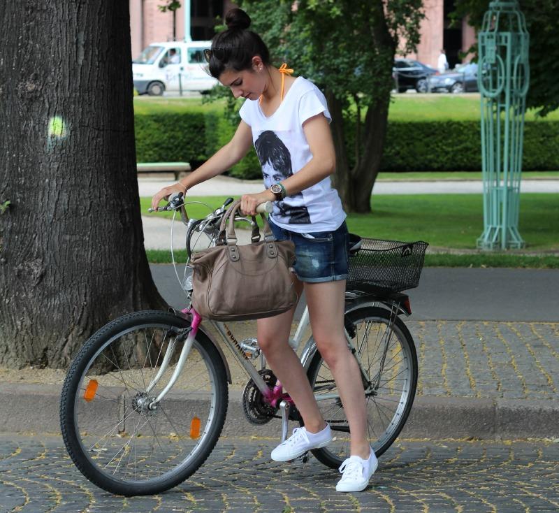 Mit dem Bike zum Strand