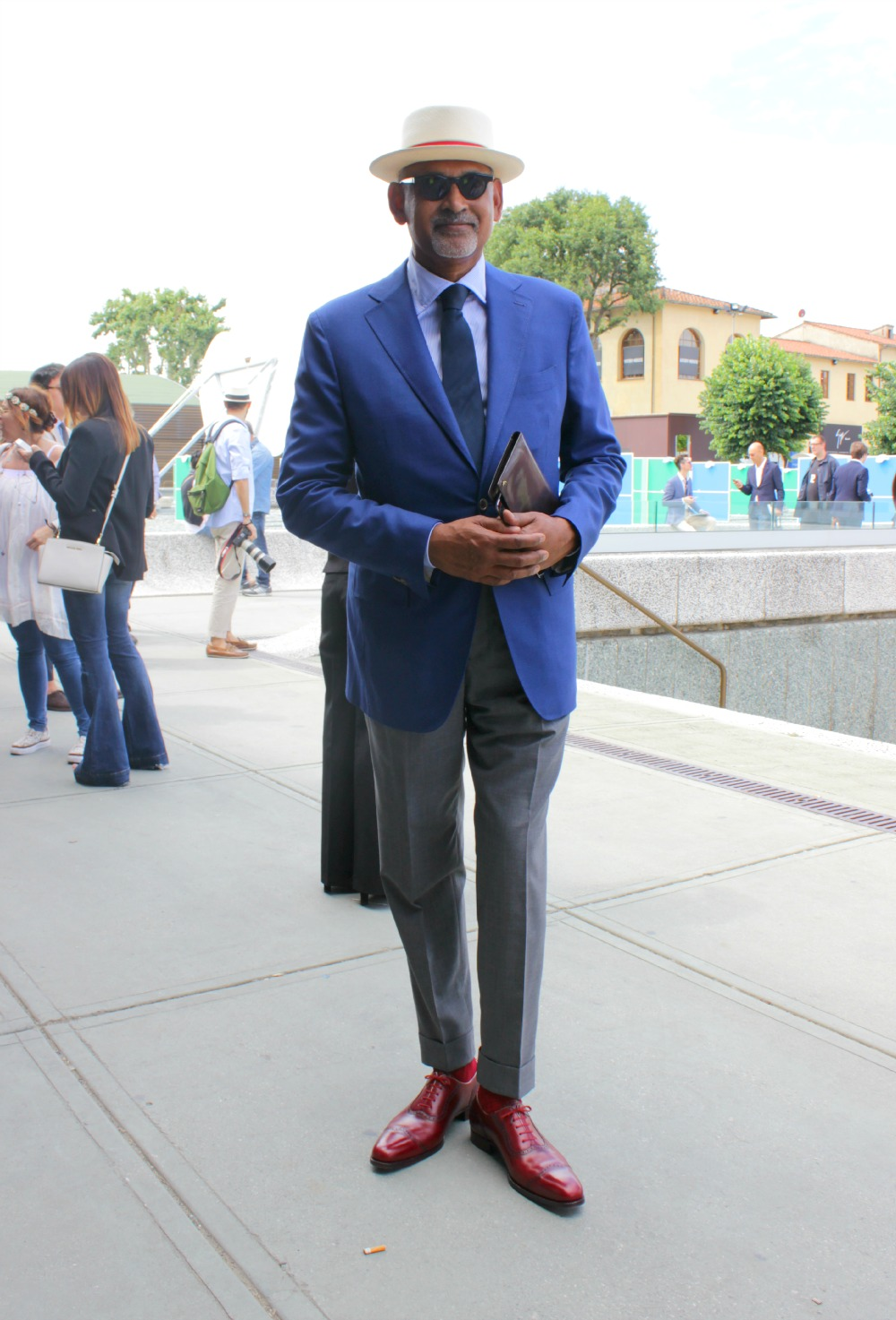 Mr Ignatius Joseph auf der Pitti Uomo in Florenz 2014