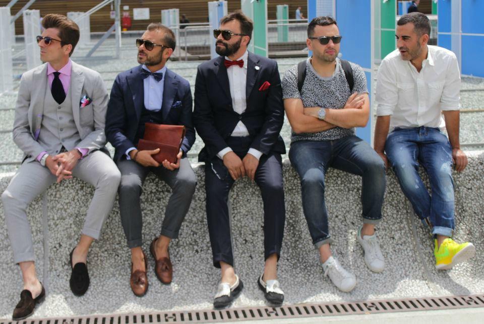 Five Gentlemen at Pitti Uomo 2014