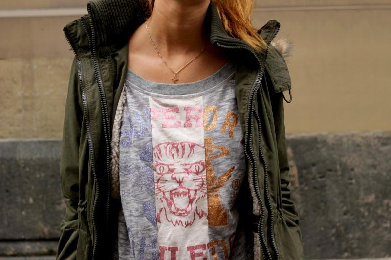 Superdry Jacke und Shirt + Kette