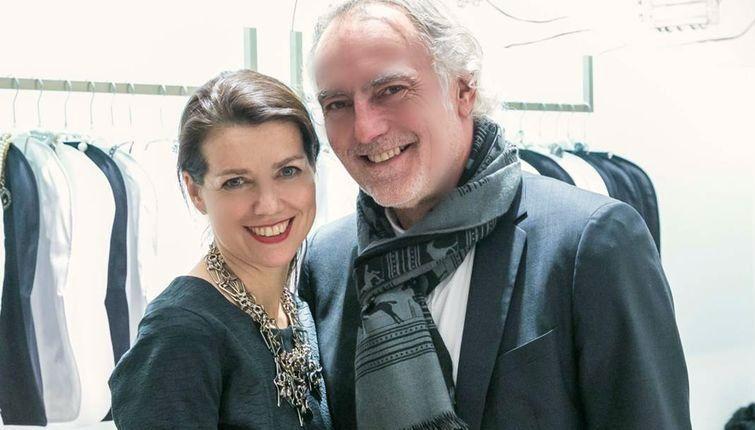 Designerin Gabriele Frantzen und Ehemann