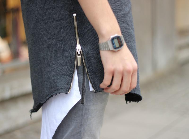 Rockamora Tee Grey Detail Long