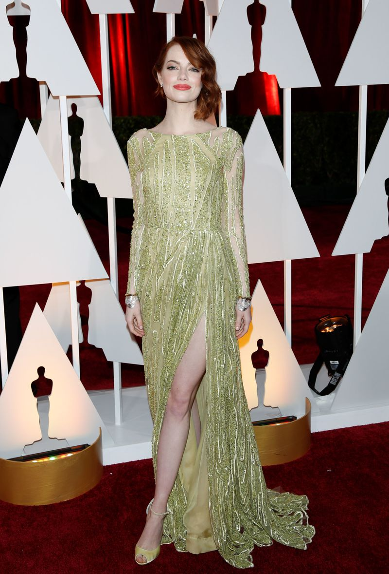 The 87th Annual Oscars - Red Carpet Arrivals_Emma Stone