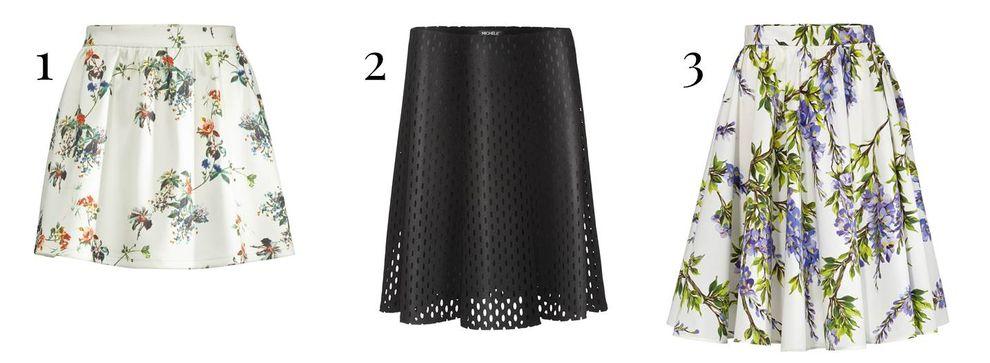Ausgestellte Röcke für lange Beine