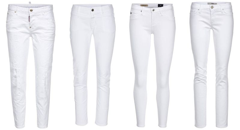 All White_Denim Jeans_Dsquared2_Closed_Adriano Goldschmied_Mavi