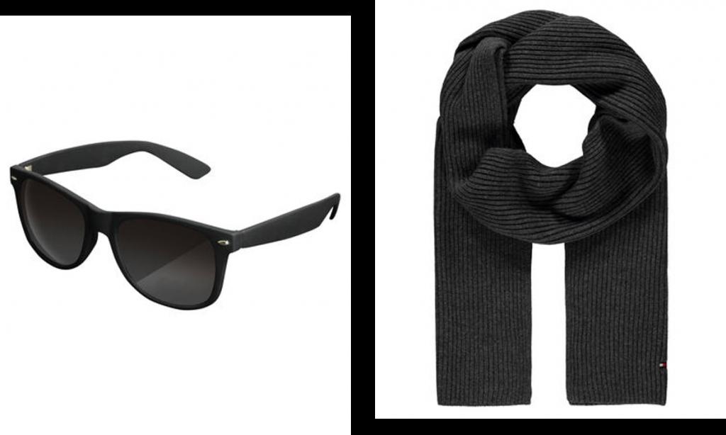 Sonnenbrille, Schal