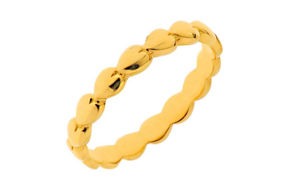Leaf Armband Herzen Gold