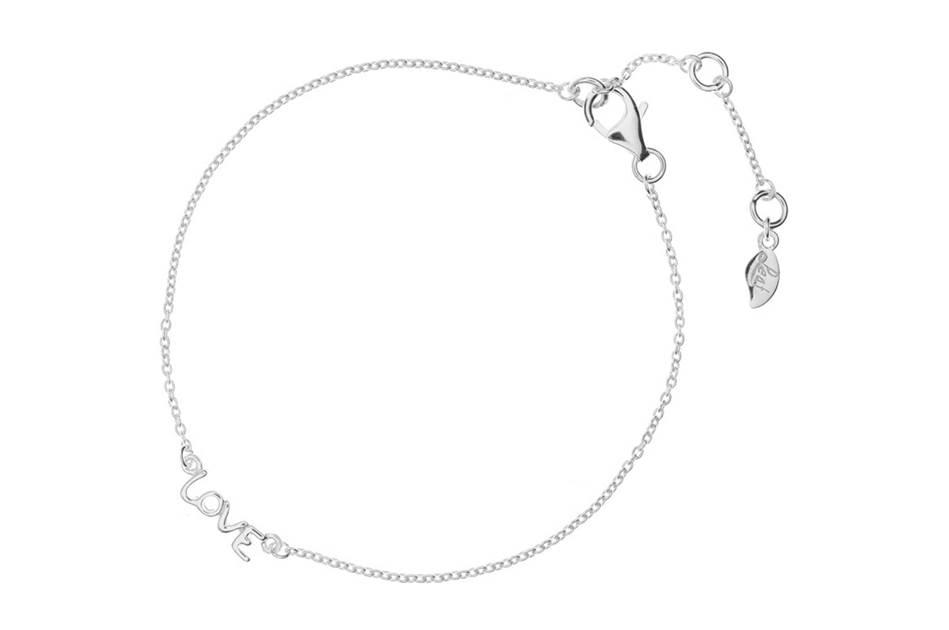 Leaf Armband Love Silber