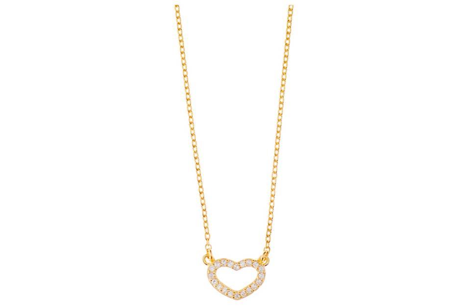 Leaf Halskette Herz Gold