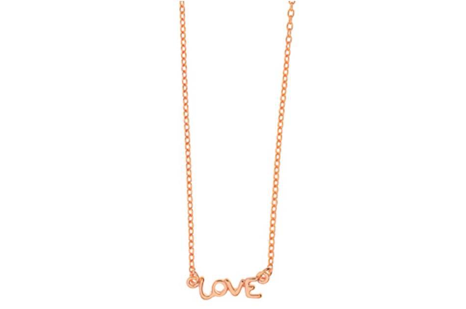 Leaf Halskette Love Rosegold