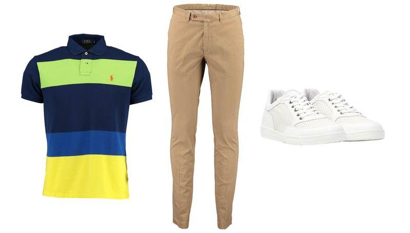 Polo Ralph Lauren T-Shirt_Hackett London Chinos_Bikkembergs Sneaker