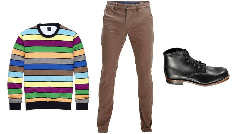 Tom Rusborg Pullover_Selected Chinos_Wolverine Boots
