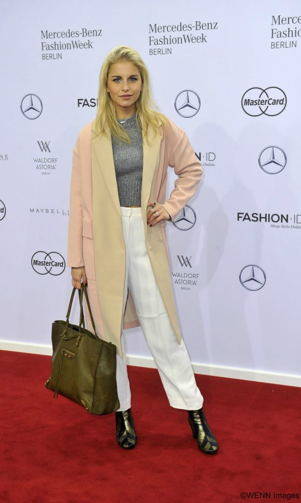 Mercedes Benz Fashion Week Berlin Autumn/Winter 2016 - Lena Hoschek - Arrivals at the fashion tent at Brandenburger Tor (Brandenburg Gate) Featuring: Caro Daur Where: Berlin, Germany When: 19 Jan 2016 Credit: Ralf Succo/WENN.com