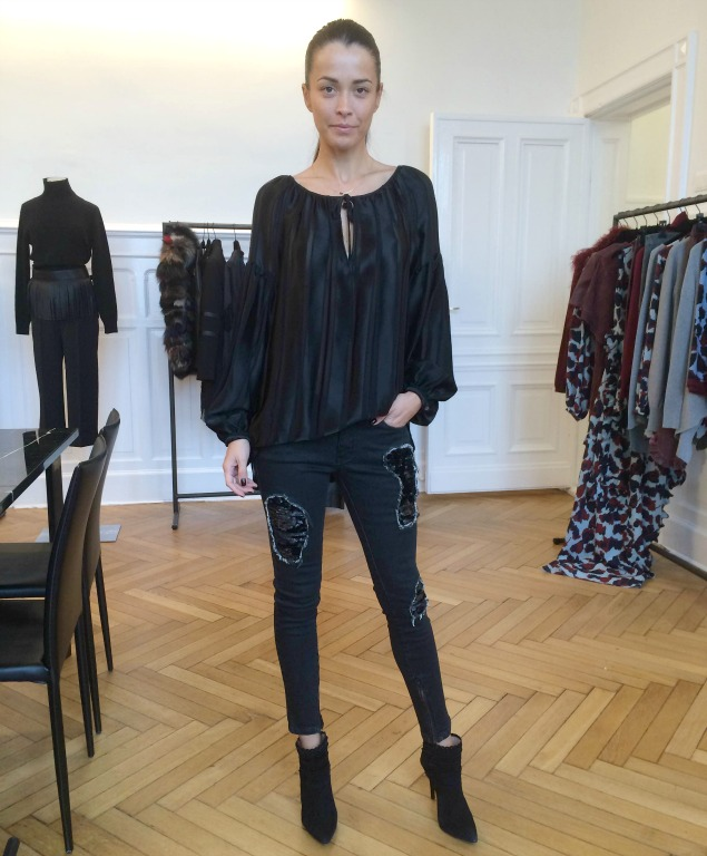 Sly 010 Skinny mit Paillettendetail