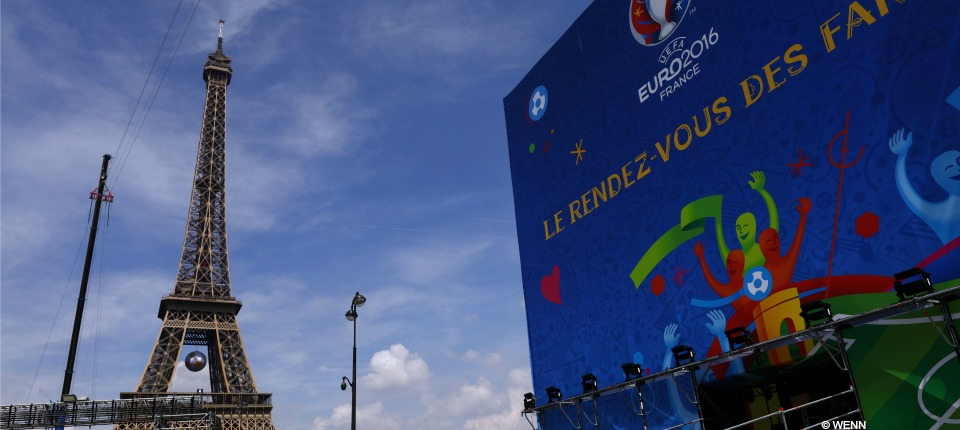 Final preparations are being made for the UEFA Euro 2016 Fan Zone at the Eiffel Tower at the Champs de Marsahead ahead of the UEFA Euro 2016 Tournament on (10Jun16). Featuring: Atmosphere Where: Paris, France When: 08 Jun 2016 Credit: WENN.com **Not available for publication in France**