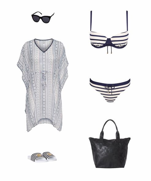 Outfit Strandtasche STripes