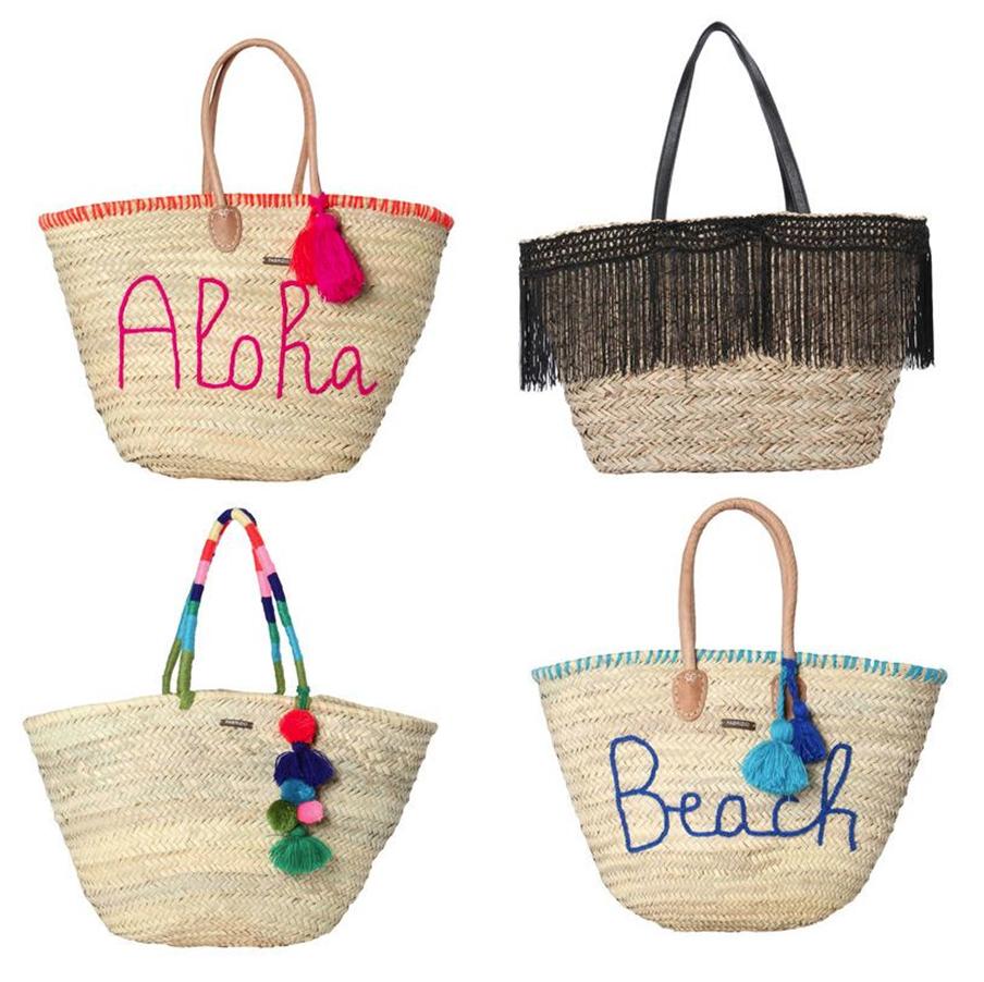 Strandtaschen aus Bast