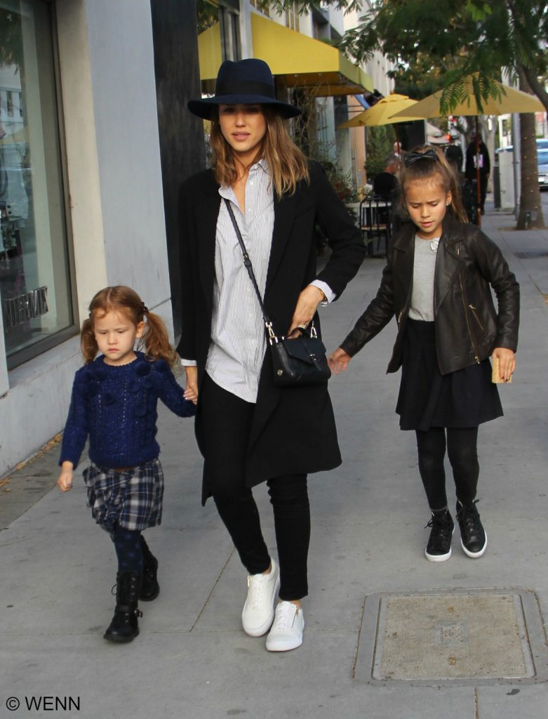 Jessica Alba takes her daughters Honor and Haven on a shopping trip in Beverly Hills Featuring: Jessica Alba, Honor Marie Warren, Haven Garner Warren Where: Beverly Hills, California, United States When: 28 Nov 2015 Credit: WENN.com