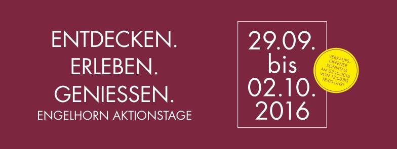 29.09. – 02.10. : Aktionstage bei engelhorn