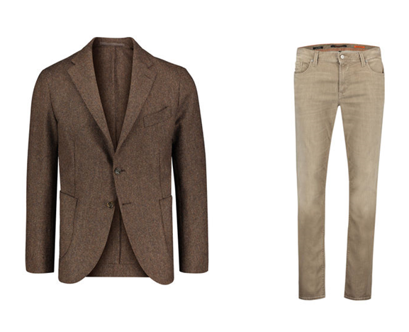 Sakko von Eleventy - Jeans von Alberto - Sakko Hose Kombination