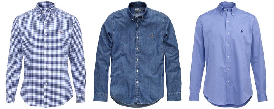 Hemden mit Button Down Kragen