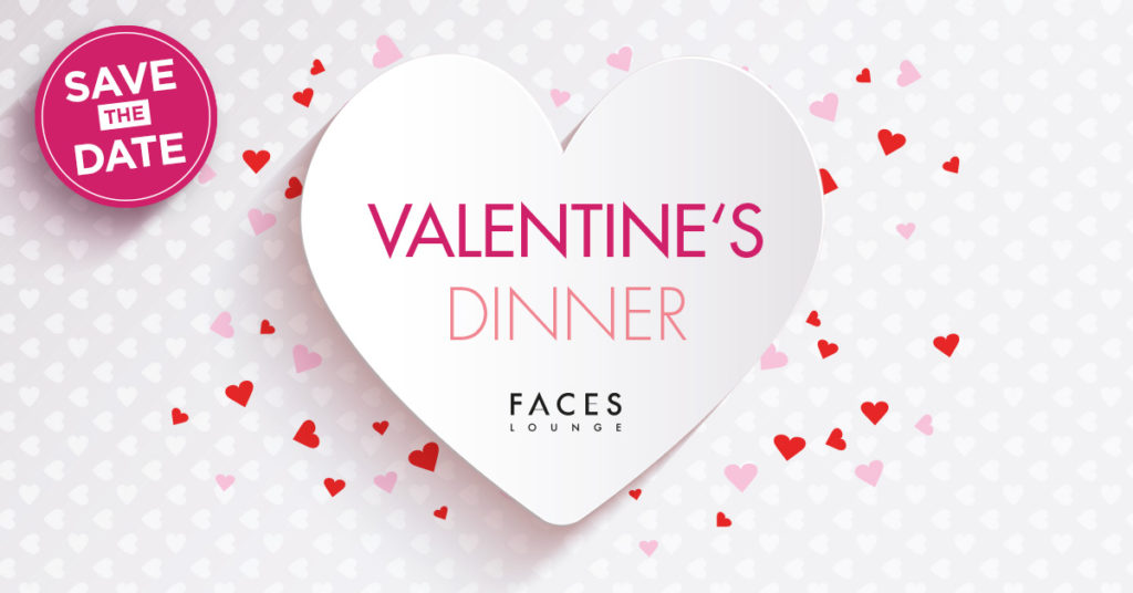 Valentinsdinner Faces Lounge