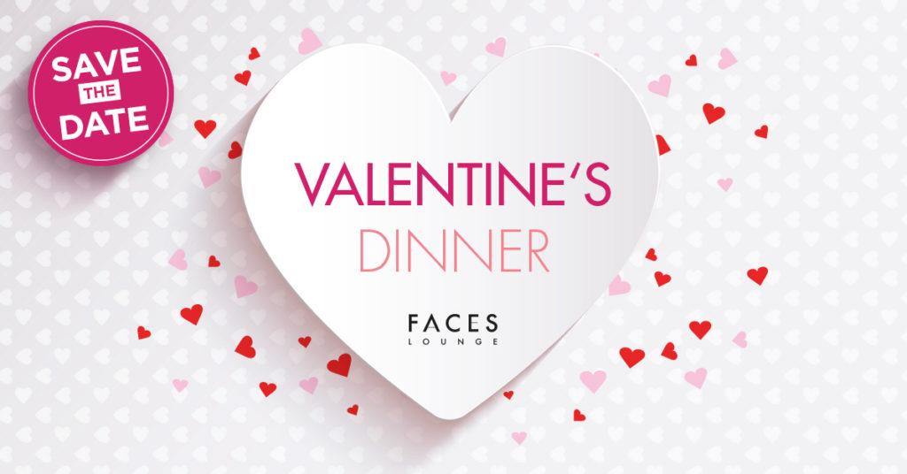 Valentinsdinner Faces Lounge