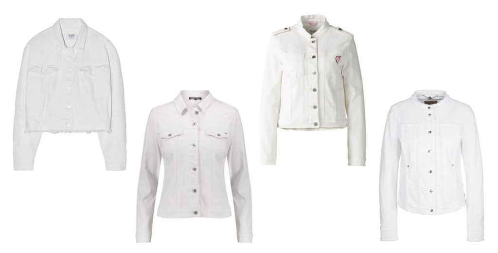 Jeansjacke Trend White Denim