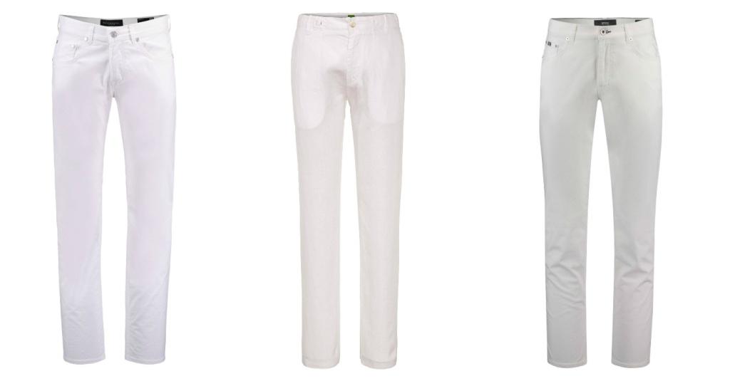 Collage Weiße Hosen