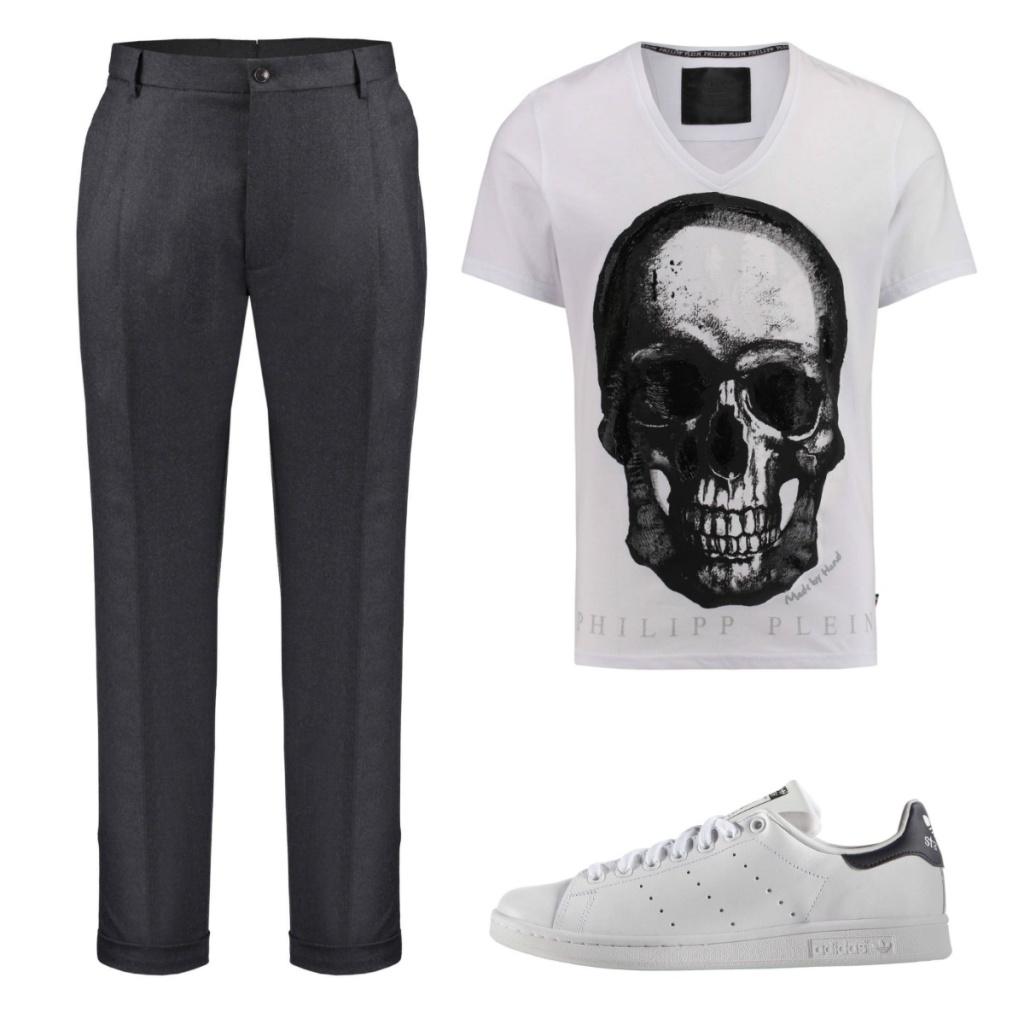 Outfit Bundfaltenhose