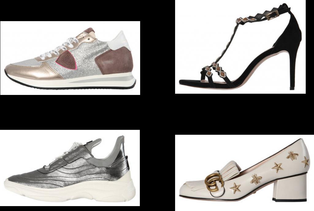 Schuhe, metallic