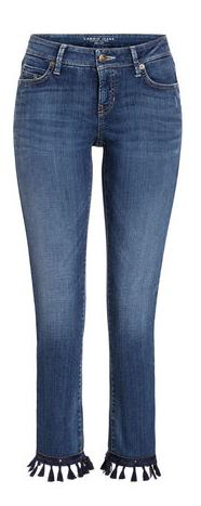 Cropped Jeans Fransen