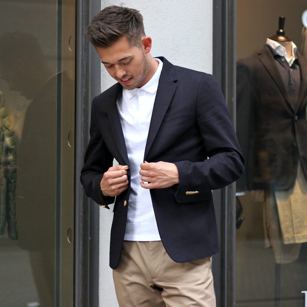 young business casual business garderobe