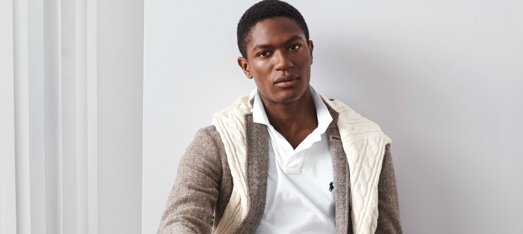 polo ralph lauren schwarze mannliche models