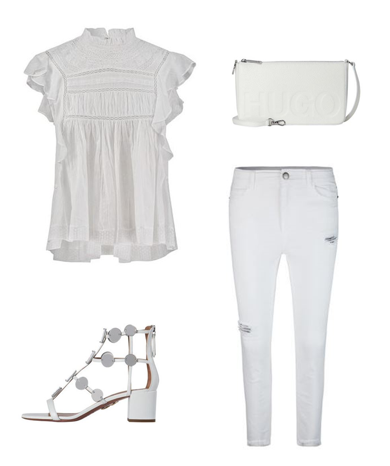 All white everything Luxus Outfit