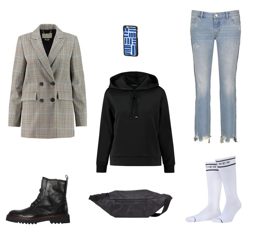 Gürteltasche Outfit Blazer
