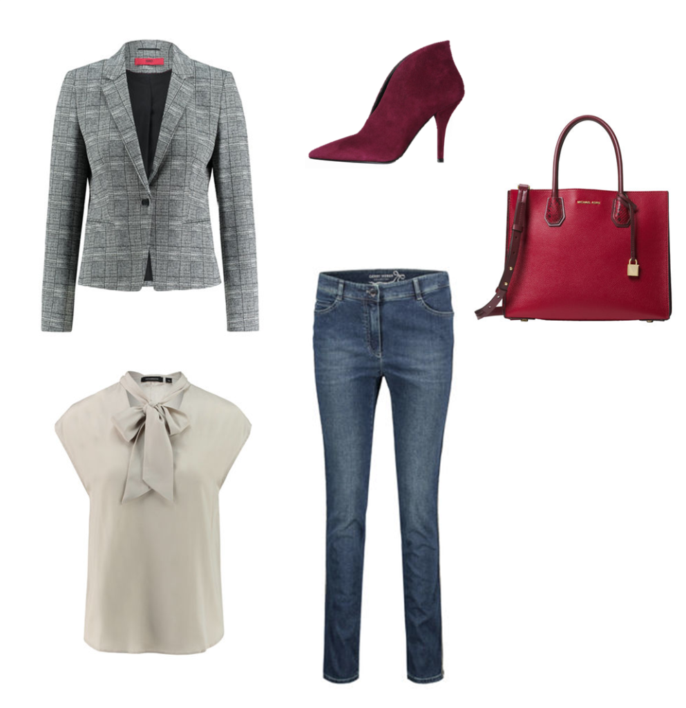 Business Outfit mit Jeans - Damen