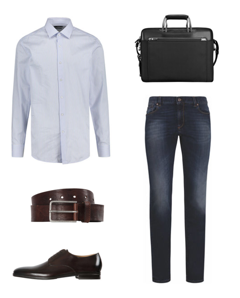 Business Outfit mit Jeans Herren