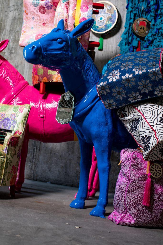 Deko Marokko Taschen Esel-min