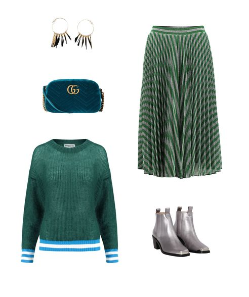 Edelsteinfarben Grün und Blau