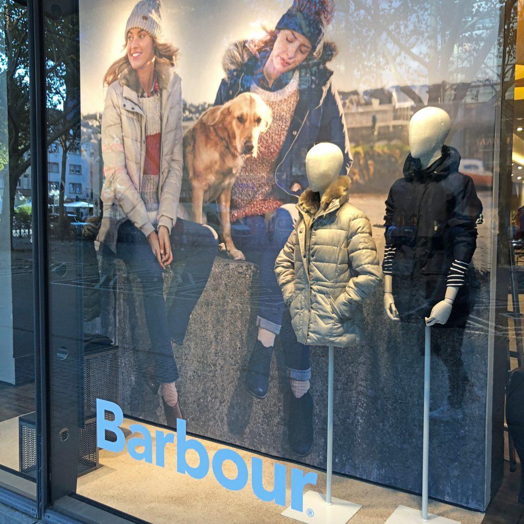 Schaufenster Barbour
