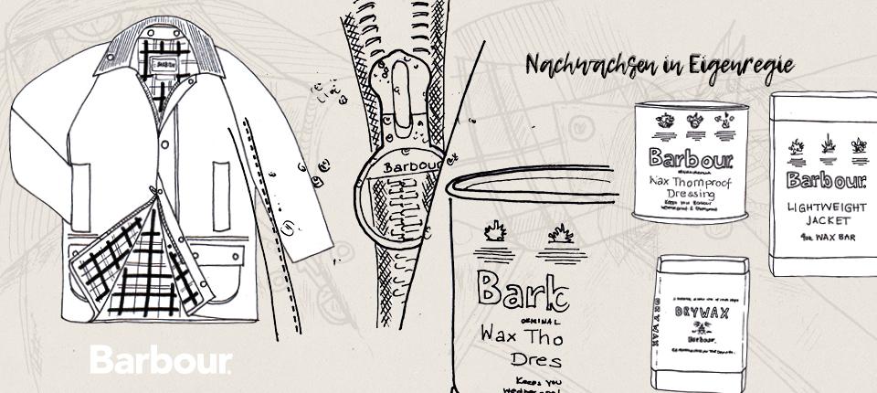 Barbour Jacke wachsen - Barbour Wachs