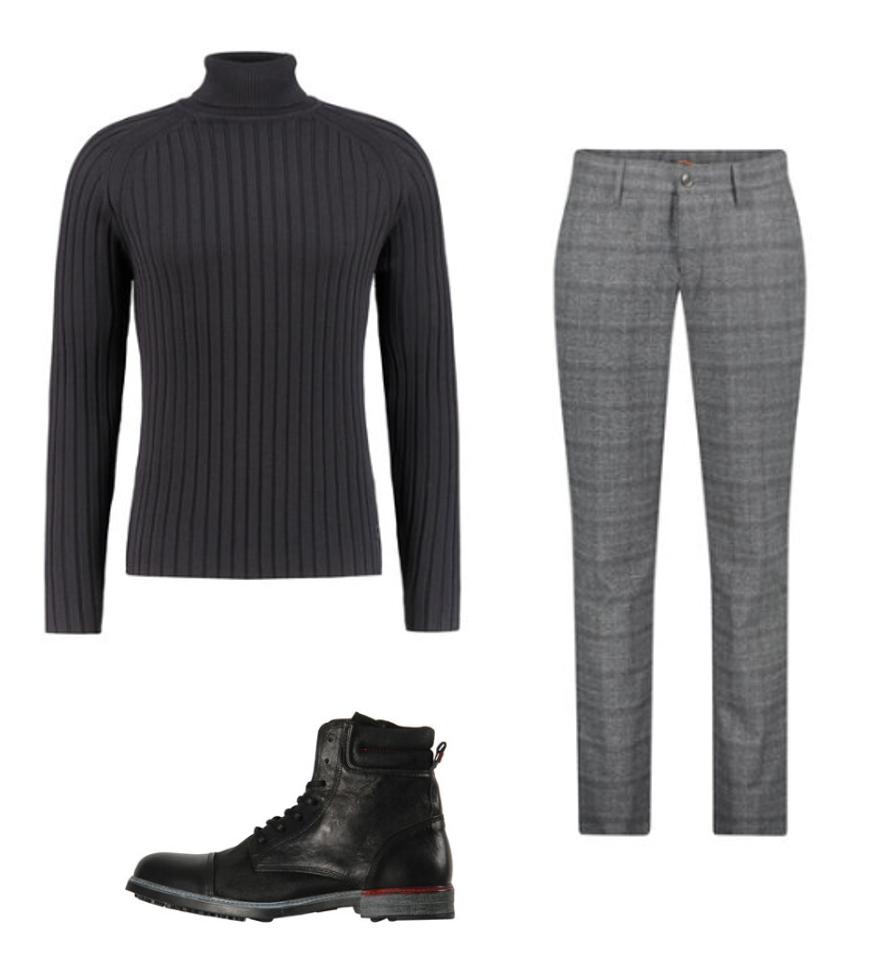 Pullover Rollkragen Outfit